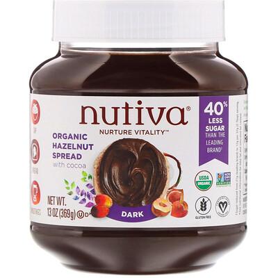 Купить Nutiva Органический арахисовый спред, темный, 13 унции(369 г)