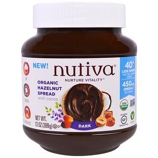 Nutiva, Avellana orgánica untada, oscura, 13 oz (369 g)