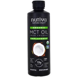 Nutiva, Aceite MCT orgánico a partir del coco, sin sabor, 16 oz (473 ml)