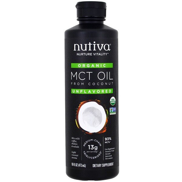 Organic MCT Oil From Coconut, Unflavored, 16 fl oz (473 ml)