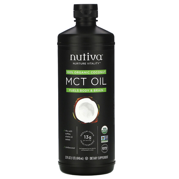 Organic, MCT Oil From Coconut, Unflavored , 32 fl oz (946 ml)