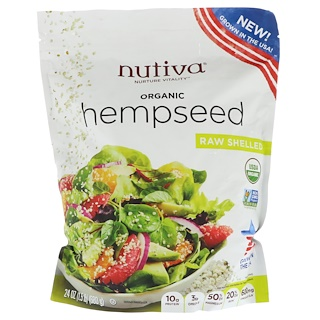 Nutiva, Organic Hempseed, Raw Shelled, 24 oz (680 g)