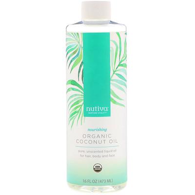 Nutiva 有機椰子油,16液量盎司(473毫升)