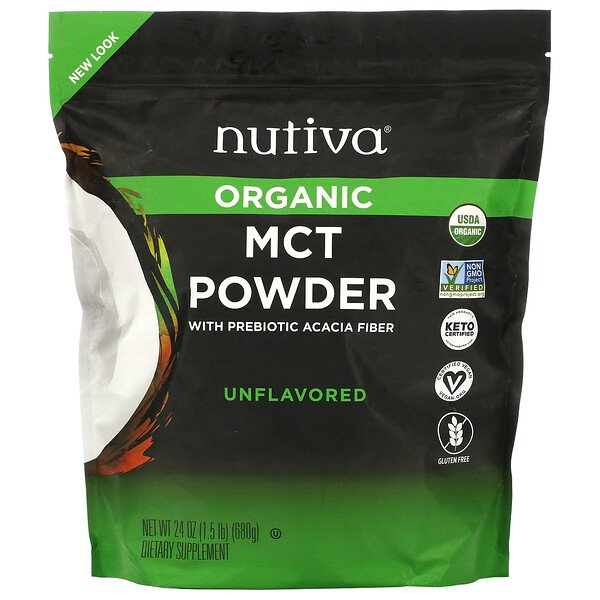 Nutiva, MCT Powder, 24 oz (689 g) (Discontinued Item)