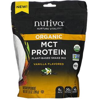 Nutiva, Organic MCT Protein, Plant-Based Shake Mix, Vanilla,  13.76 oz (390 g)