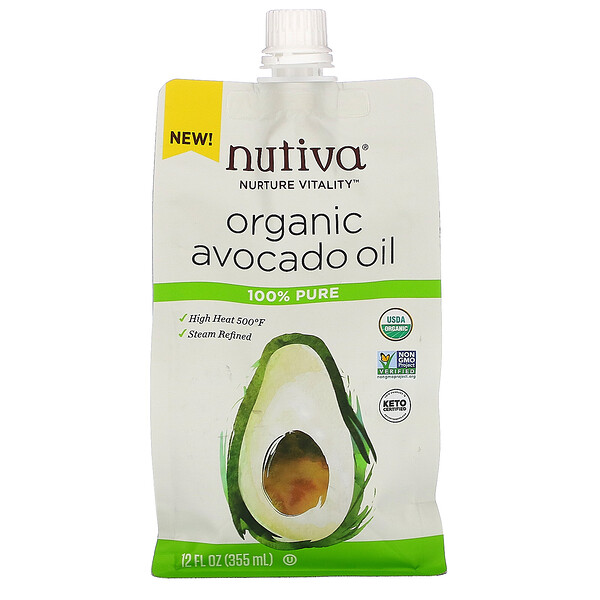 Nutiva, Organic Avocado Oil, 100% Pure, 12 fl oz (355 ml)