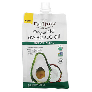 Nutiva, Organic Avocado Oil, MCT Oil Blend, 12 fl oz (355 ml)'