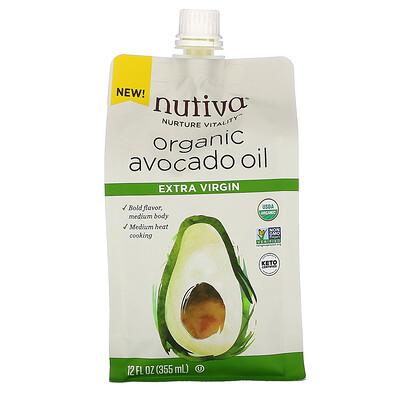 Купить Nutiva органическое масло авокадо, первого отжима, 355мл (12жидк.унций)