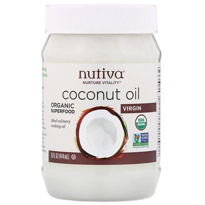 Органическое кокосовое масло, первого отжима, 444мл