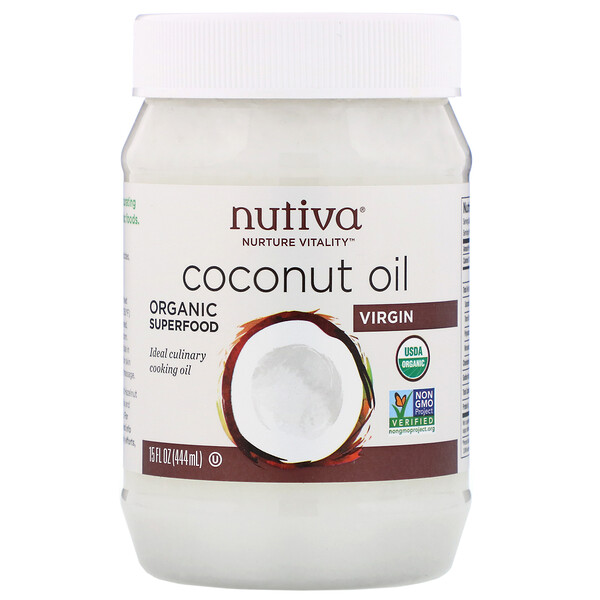 Nutiva, Organic Coconut Oil, Virgin, 15 fl oz (444 ml)