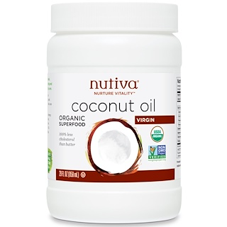 Nutiva, Organic Coconut Oil, Virgin, 29 fl oz (858 ml)