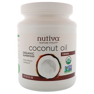 Nutiva, Organic Virgin Coconut Oil, 54 fl oz (1.6 L)