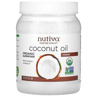 Nutiva, органическое кокосовое масло, первого отжима, 1,6л (54жидк.унции)