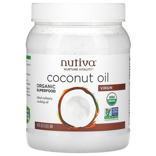 Organic Coconut Oil, Virgin, 54 fl oz (1.6 L)