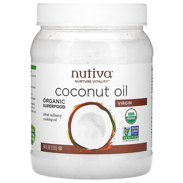 Nutiva, Organic Coconut Oil, Virgin, 54 fl oz (1.6 L)