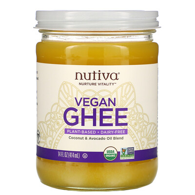 Купить Nutiva Organic Vegan Ghee, 14 fl oz (414 ml)