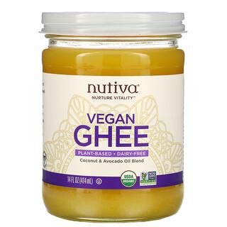 Nutiva, Organic Vegan Ghee, 14 fl oz (414 ml)
