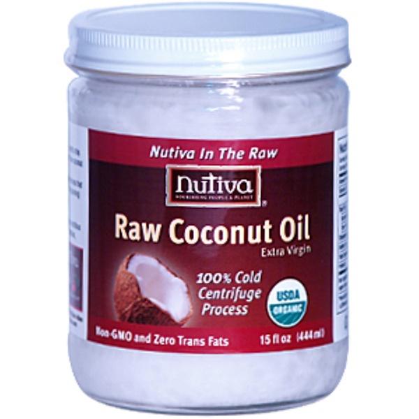 Nutiva, Raw Coconut Oil, Extra Virgin, 15 fl oz (444 ml) (Discontinued Item)