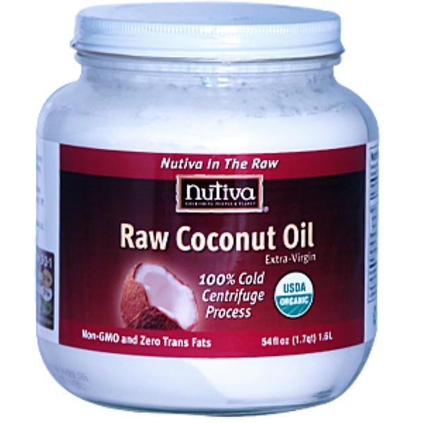 Nutiva, Raw Coconut Oil, Extra-Virgin, 54 fl oz (1.6 l) (Discontinued Item)