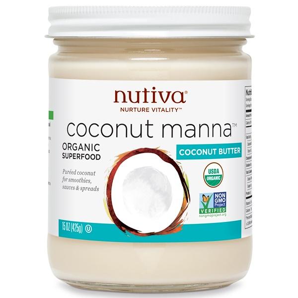 Nutiva, 有機,椰子甘露,15 盎司(425 克)