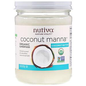 Нутива, Organic, Coconut Manna, Pureed Coconut, 15 oz (425 g) отзывы покупателей