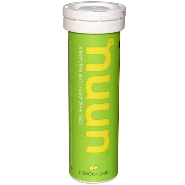 Nuun, Electrolyte-Enhanced Drink Tabs, Lemon+Lime, 12 Tablets (Discontinued Item)