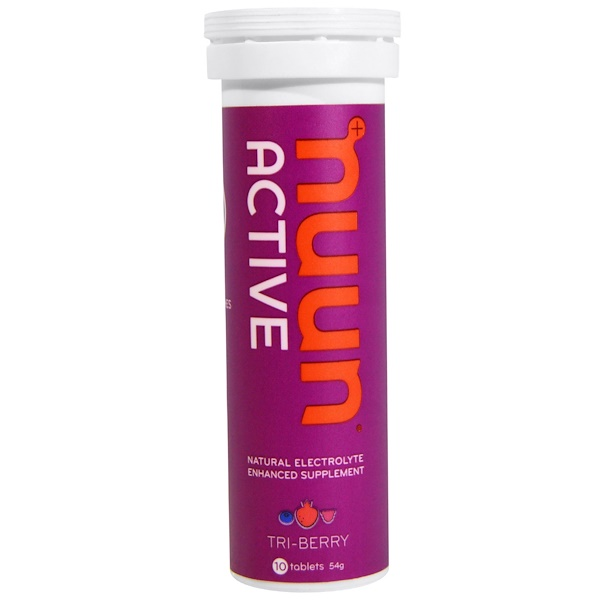 Nuun, Active, Natural Electrolyte Enhanced Supplement, Tri-Berry, 10 Tablets