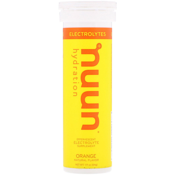 Nuun, Effervescent Electrolyte Supplement, Orange, 10 Tablets