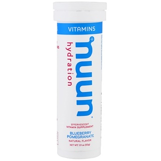 Nuun, Vitamins, Hydration, Blueberry Pomegranate, 12 Tablets