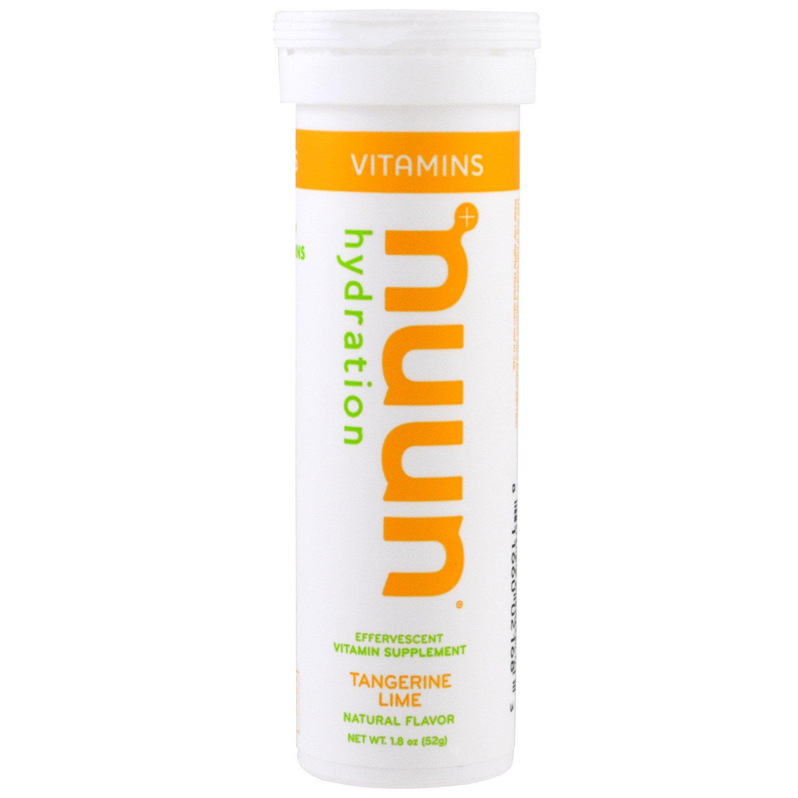 Nuun, Витамины, Гидратация, Мандарин-Лайм, 12 таблеток