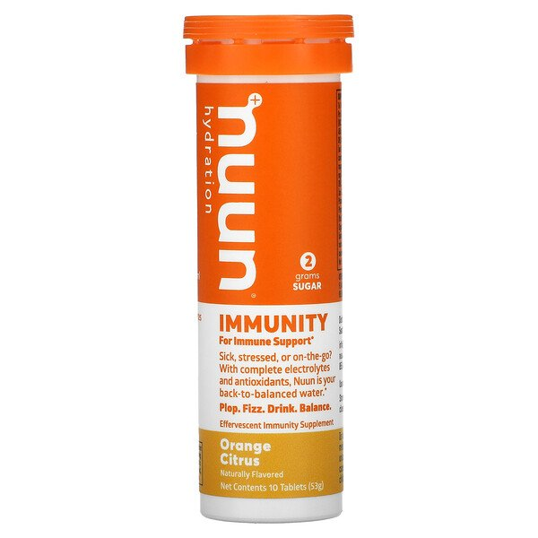 Hydration, Immunity, Effervescent Immunity Supplement, Orange Citrus, 10 Tablets