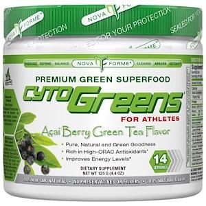 НоваФорме, CytoGreens, High-ORAC Premium Green Superfood, Acai Berry Green Tea Flavor, 4.4 oz (125 g) отзывы