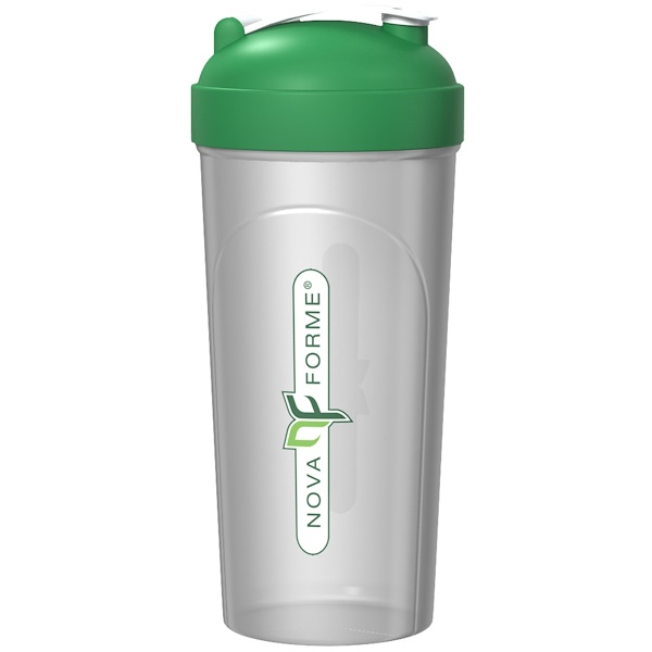 NovaForme, Leak-Proof Shaker, BPA-FREE Bottle with Vortex Mixer, 25 oz (700 ml) (Discontinued Item)
