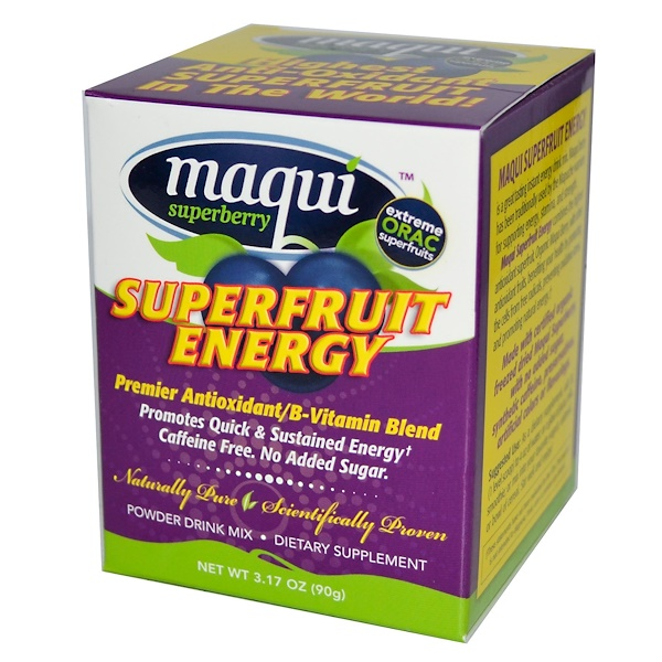Novelle Int., Maqui Superberry, Superfruit Energy, 3.17 oz (90 g) (Discontinued Item)