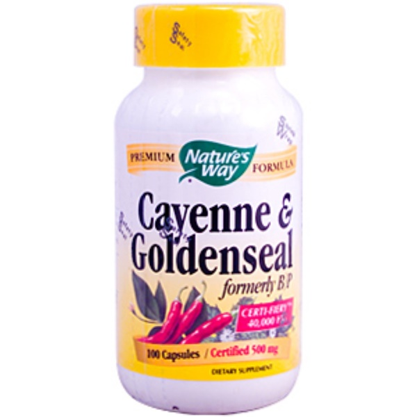 Nature's Way, Cayenne & Goldenseal, 500 mg, 100 Capsules (Discontinued Item)