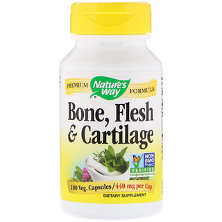 Nature's Way, Bone, Flesh & Cartilage, 440 mg, 100 Veg. Capsules