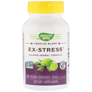 Nature's Way, Ex-Stress, Calming Herbal Formula, 890 mg, 100 Vegan Capsules