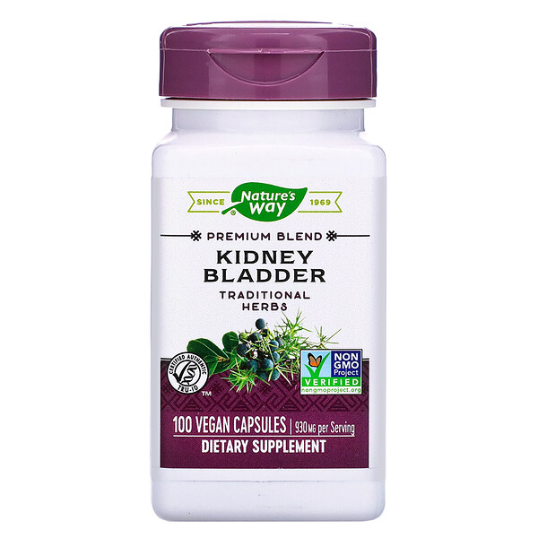 Nature's Way, Kidney Bladder, 930 mg, 100 Vegan Capsules