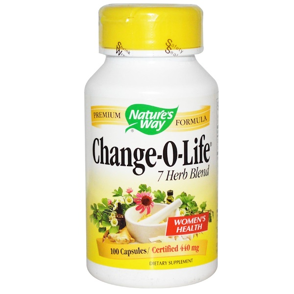 Nature's Way, Change-O-Life, 7 Herb Blend, 440 mg, 100 Capsules (Discontinued Item)