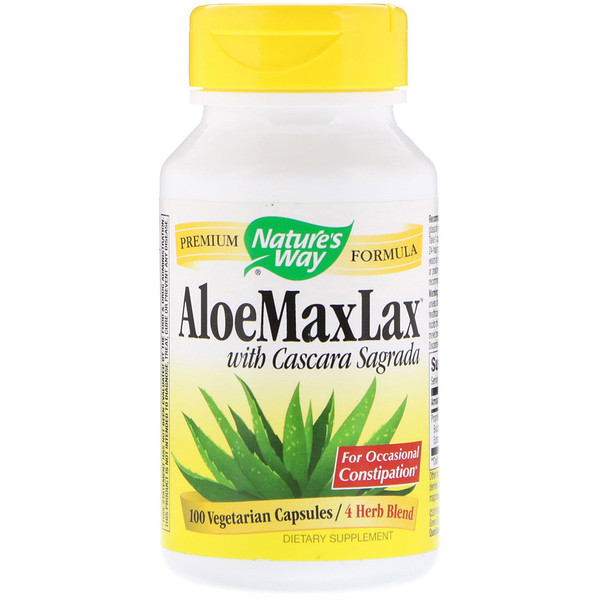 AloeMaxLax with Cascara Sagrada, 100 Vegetarian Capsules