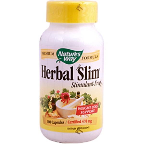 Nature's Way, Herbal Slim, Stimulant-Free, 470 mg, 100 Capsules (Discontinued Item)