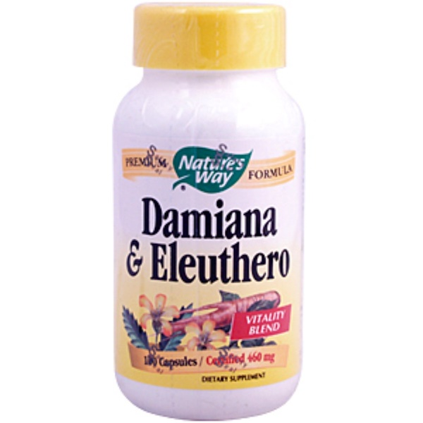 Nature's Way, Damiana & Eleuthero, 460 mg, 100 Capsules (Discontinued Item)