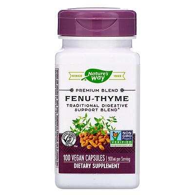 Фото - Fenu-Thyme, 900 mg, 100 Vegan Capsules peppermint leaf 700 mg 100 vegan capsules