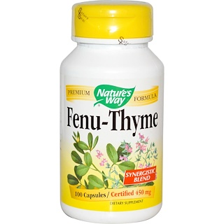 Nature's Way, Fenu-Thyme, 450 mg, 100 Capsules