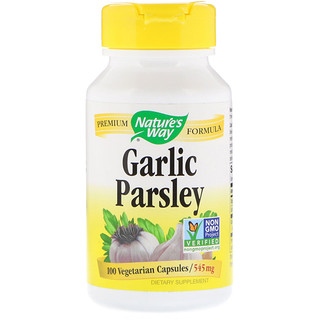 Nature's Way, Garlic & Parsley, 545 mg, 100 Vegetarian Capsules