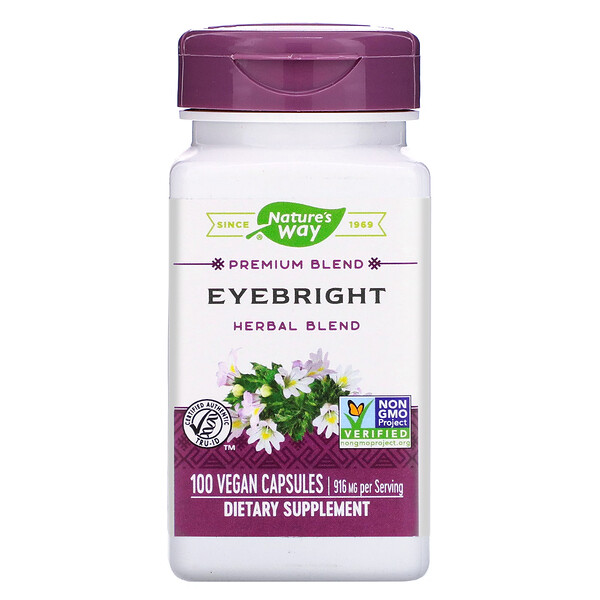 Eyebright Herbal Blend, 916 mg, 100 Vegan Capsules