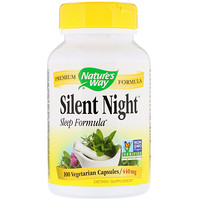 Silent Night Sleep Formula, 440 mg, 100 Vegetarian Capsules - фото