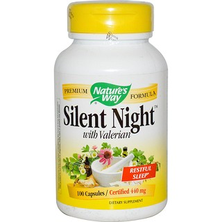 Nature's Way, Silent Night with Valerian, 440 mg, 100 Capsules