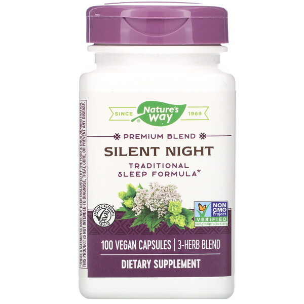 Nature's Way, Silent Night, 100 Vegan Capsules