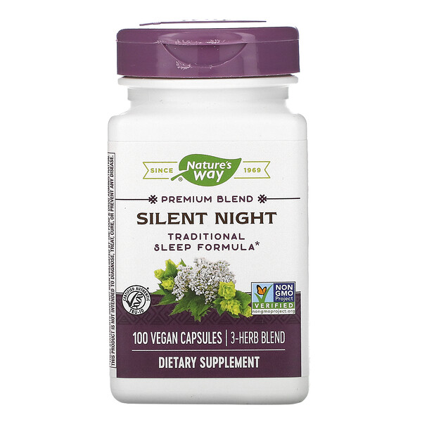Nature's Way, Silent Night, 100 веганских капсул